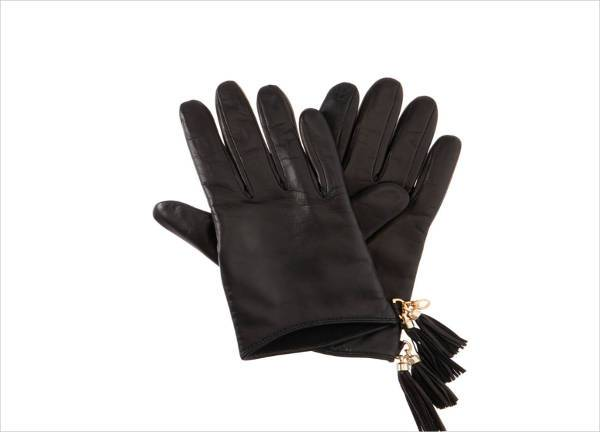 henri bendel tassel leather gloves