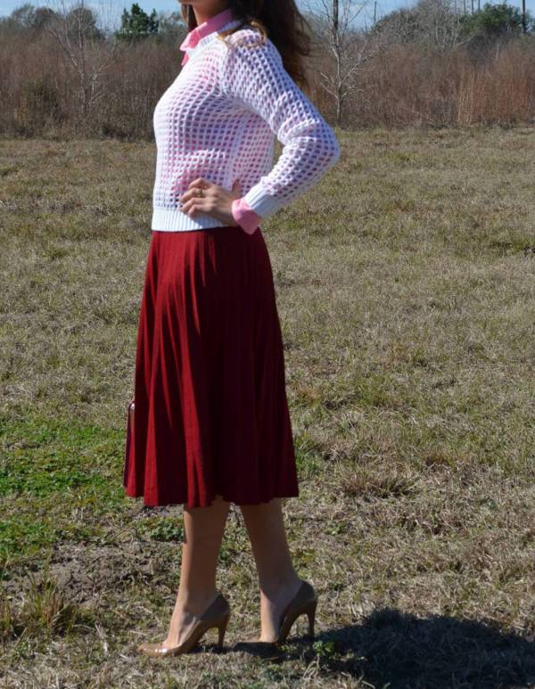 Vintage Pleated Skirt for Women