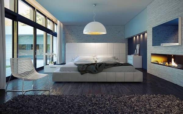 ultra modern bedroom decorating idea
