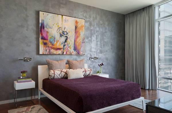 modern bedroom wall decorating idea