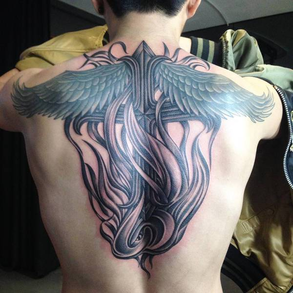 Wing Back Tattoo for Men
