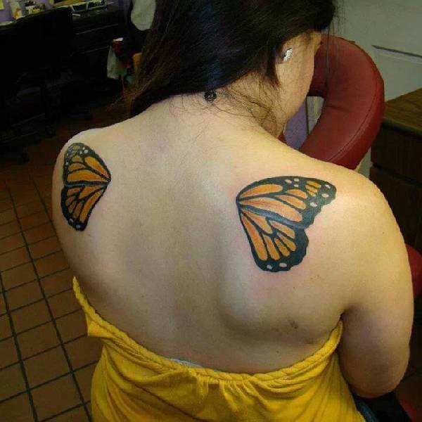 Butterfly Wings Tattoo for Women
