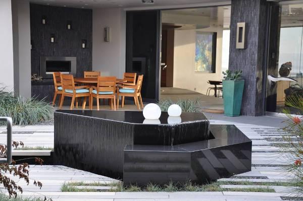 modern outdoor landscape fountain