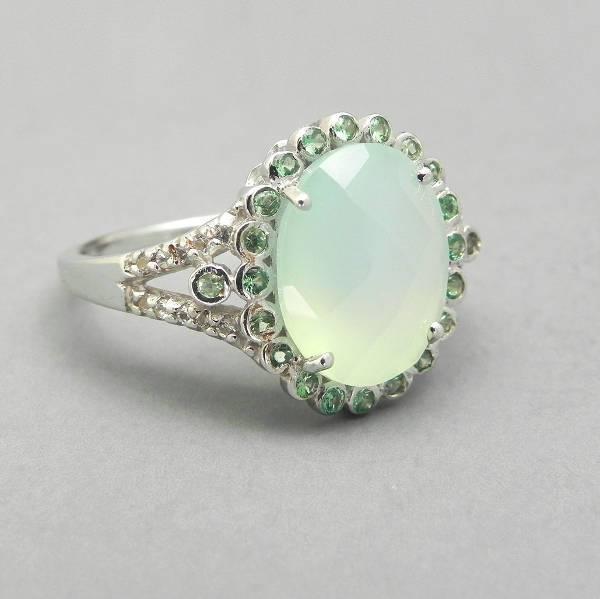 Sterling Silver Vintage Oval Engagement Ring