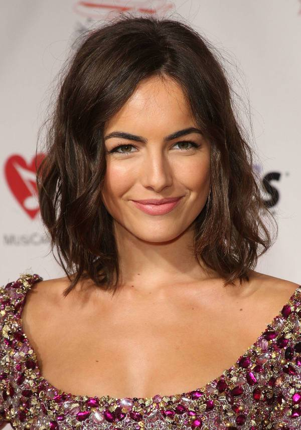 Camilla Belle Shoulder Length Wavy Haircut