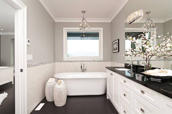 Small Black and White Bathroom Vanity