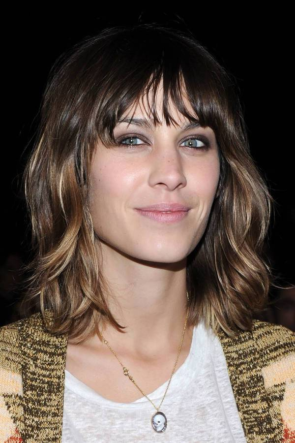 Alexa Chung Shoulder Length Shag Haircut