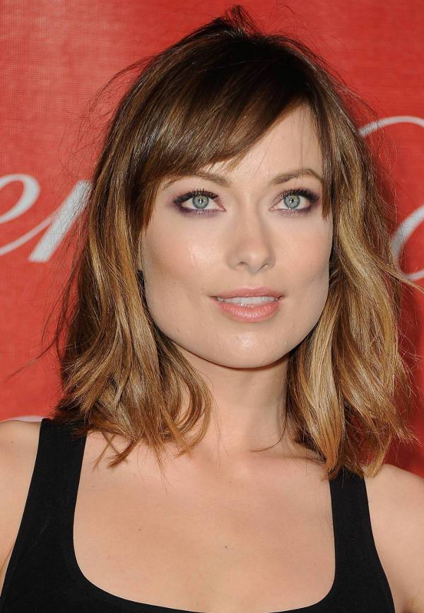 Olivia Wilde Blunt Shoulder Length Haircut
