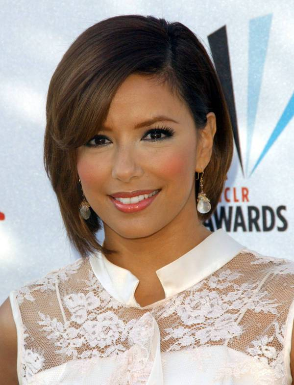 Eva Longoria Shoulder Length Emo Haircut