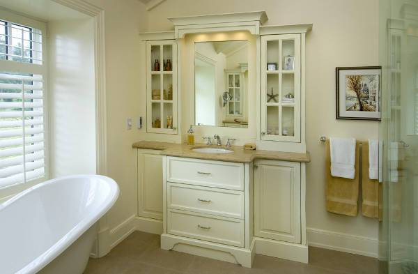 small vintage bathroom vanity storage design - Vintage Bathroom Vanity