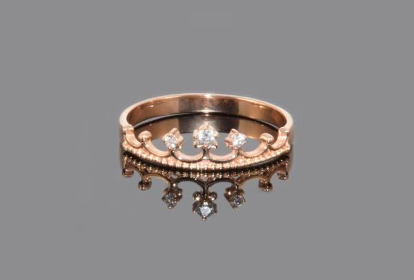 unique crown promise ring
