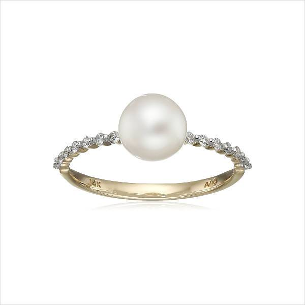 pearl and diamond promise ring
