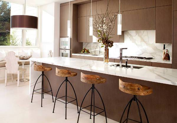 marble kitchen island countertop