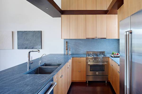blue marble kitchen countertop