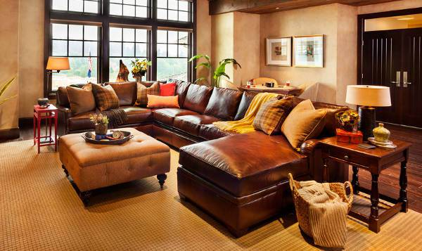 18+ Leather Sectional Sofa Designs, Ideas | Design Trends - Premium ...