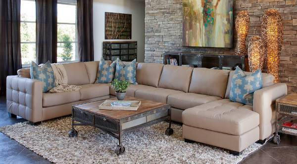 modern faux leather sectional sofa