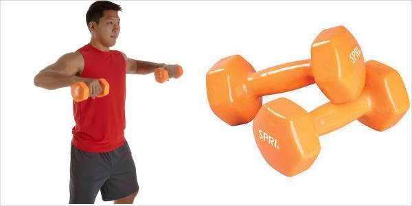 equipment spri deluxe vinyl dumbbells