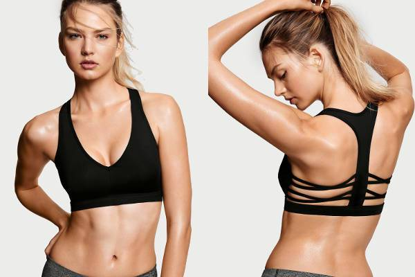 victorias secret caged racerback sports bra