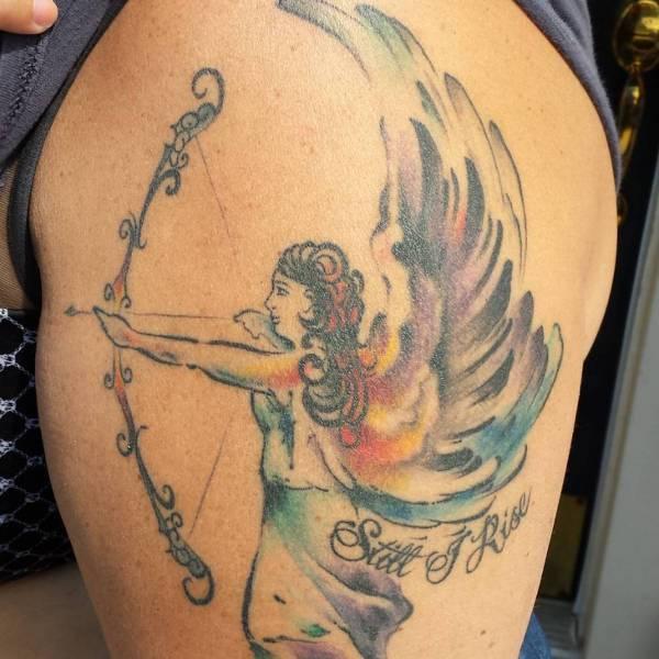 Traditional Archery Tattoo