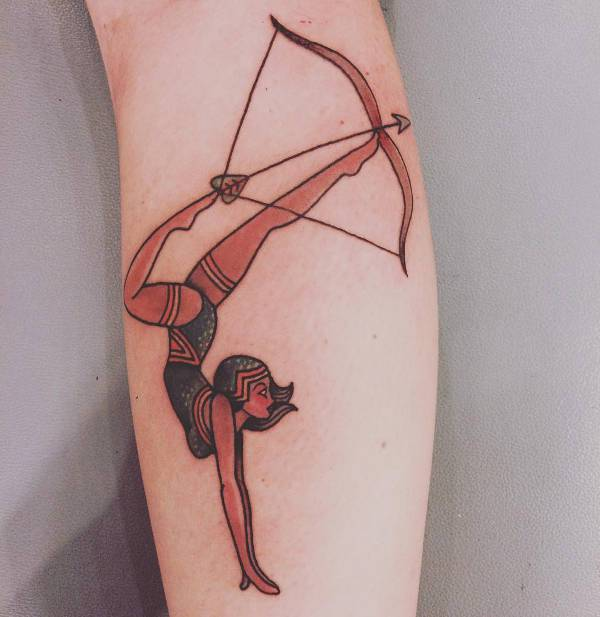Archery Tattoo with Girl