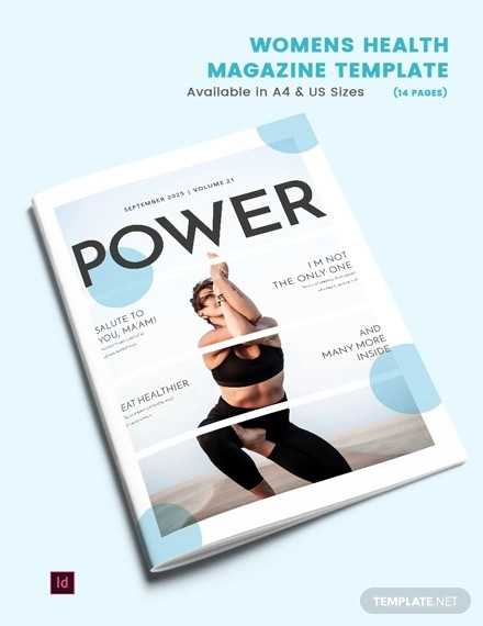 womens health magazine template