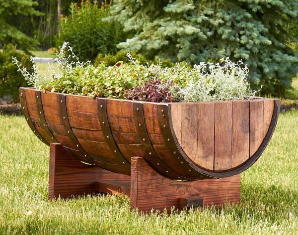 wine crate herb garden