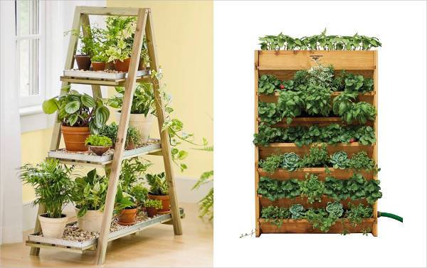 shelves or horizontal containers