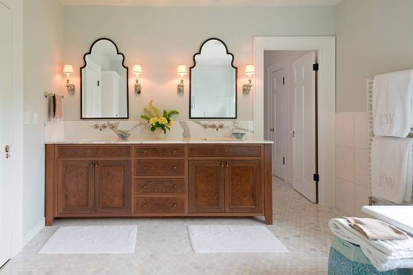 vintage mirrored bathroom vanity