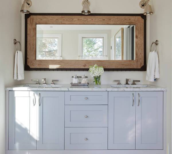 wooden diy mirrored vanity