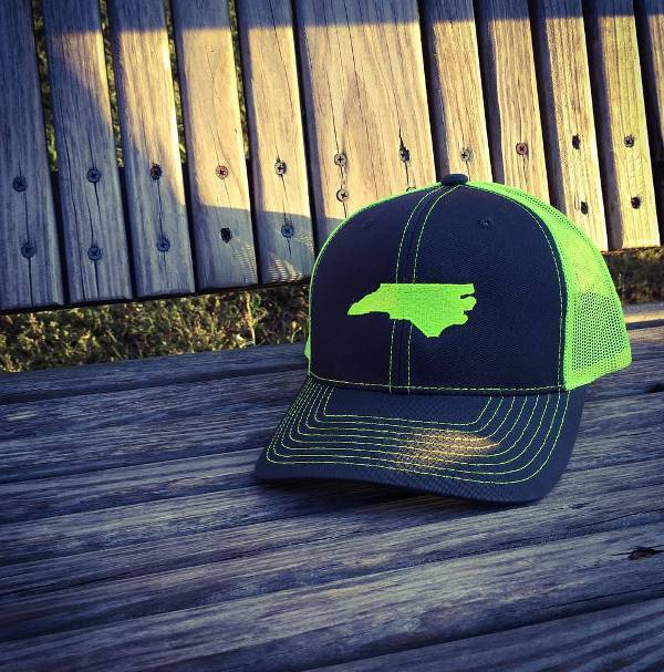 green neon trucker hat