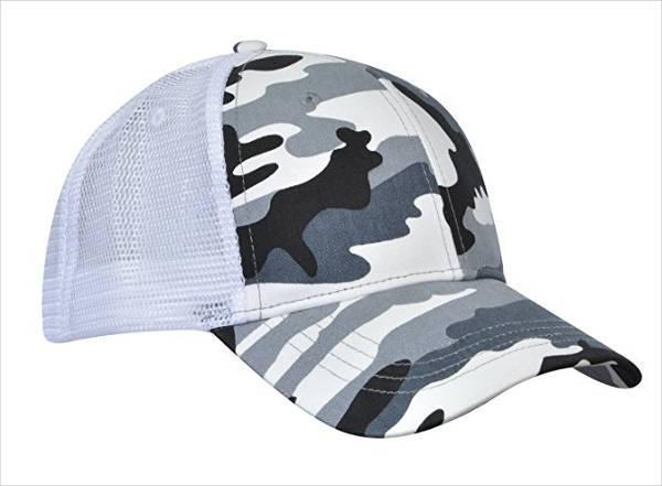 unisex camo trucker hat