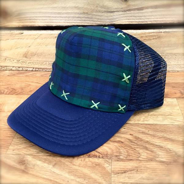 awesome plaid trucker hat