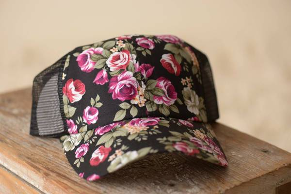 floral print trucker hat for women