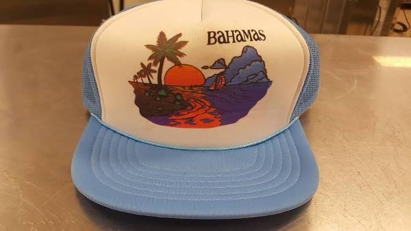 vintage flat brim trucker hat