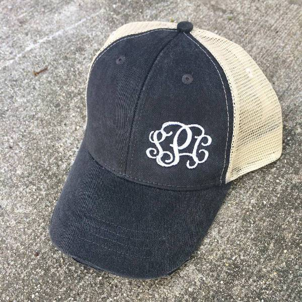 best monogram trucker hat