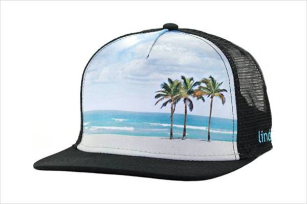 beautiful beach trucker hat