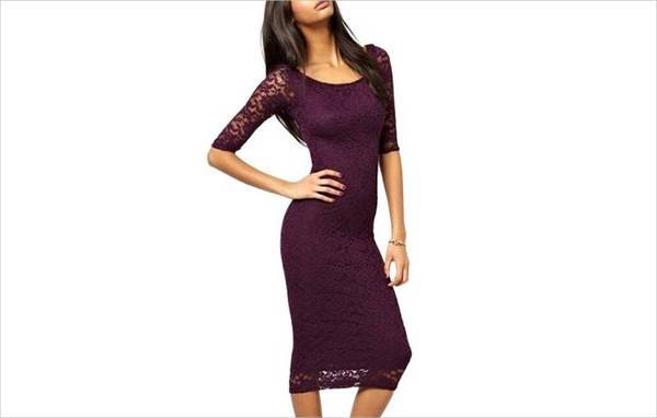 retro lace bodycon dress1