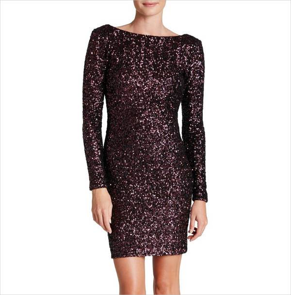 short sequin bodycon dress