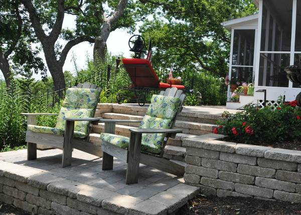 rustic wooden patio chairs