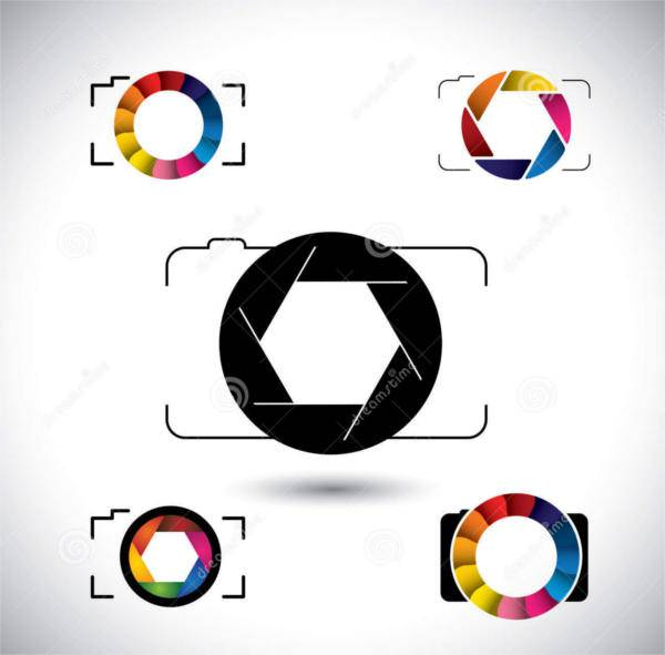 abstract slr camera icon