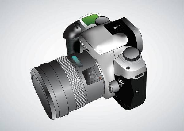Vector Digital Camera Illustration