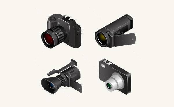 3d video camera vector