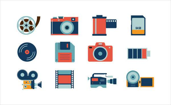 free camera icon vector