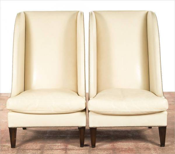 tall wingback leather chairs