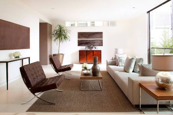 modern leather living room chairs