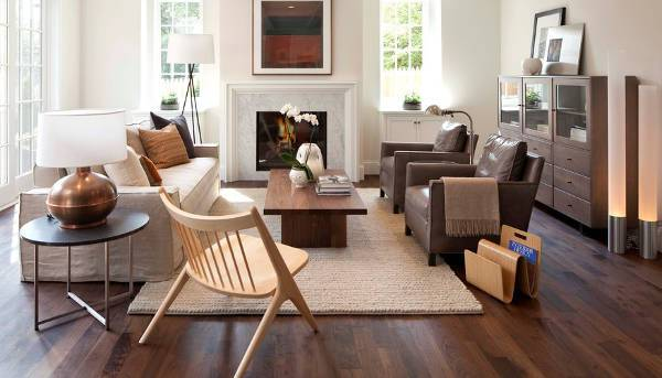 simple living room leather chairs