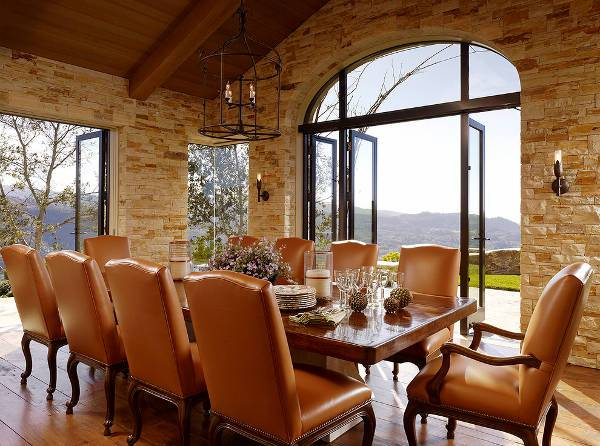 traditional dining room leather chairs