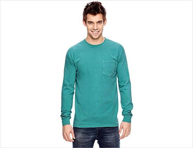 long sleeve pocket t shirt for men