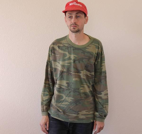 simple long sleeve camo t shirt