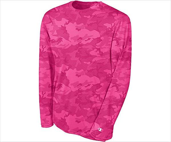 pink camo long sleeve t shirt